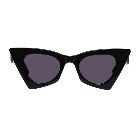 Karen Walker Female Astral Heart Black Cat-eye Sunglasses