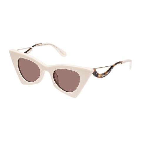Karen Walker Female Astral Heart White Cat-eye Sunglasses