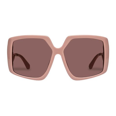 Karen Walker Female Celestial Pink Square Sunglasses