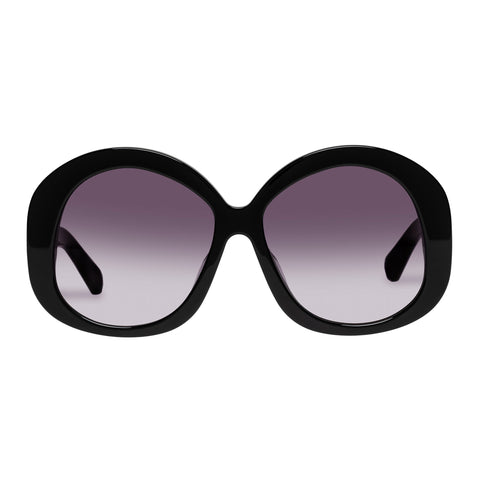 Karen Walker Female Supersonic Black Round Sunglasses