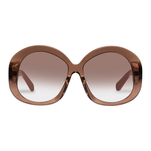 Karen Walker Female Supersonic Tan Round Sunglasses