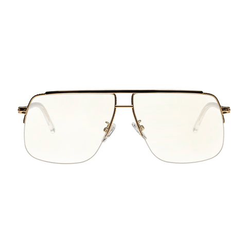 Karen Walker Uni-sex Melba Gold Aviator Readers
