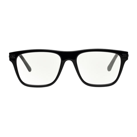 Karen Walker Uni-sex Frances (alt Fit) Black Modern Rectangle Readers