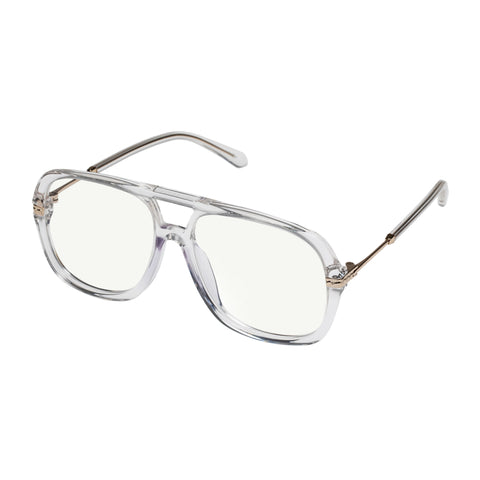 Karen Walker Uni-sex Nettie Clear Aviator Readers