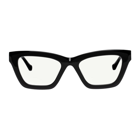Karen Walker Female Lella Black Cat-eye Readers