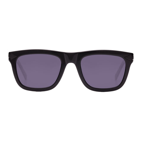 Monumental By Karen Walker Male Voltaire Black Modern Rectangle Sunglasses