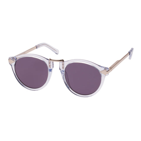 Monumental By Karen Walker Male Hemingway Grey Round Sunglasses