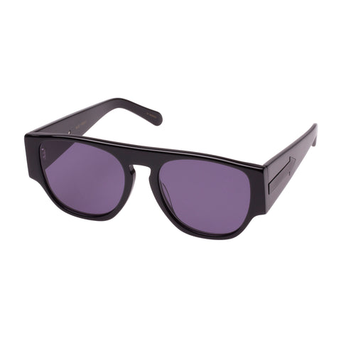 Monumental By Karen Walker Male Buzz Black Square Sunglasses