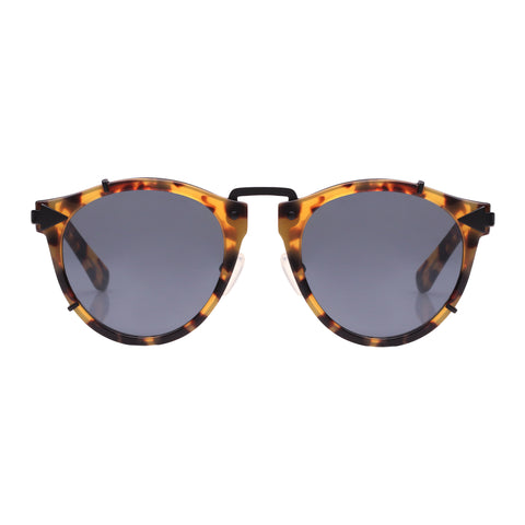 Monumental By Karen Walker Male Apollo Tort Round Sunglasses