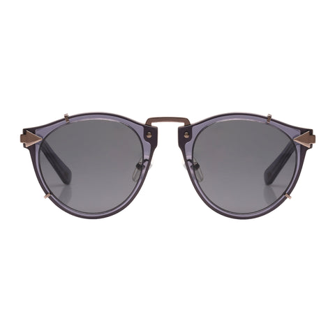 Monumental By Karen Walker Male Apollo Navy Round Sunglasses