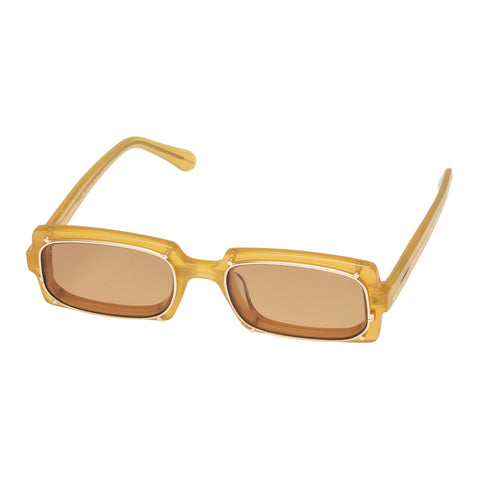 Monumental By Karen Walker Male Turing Brown Rectangle Sunglasses