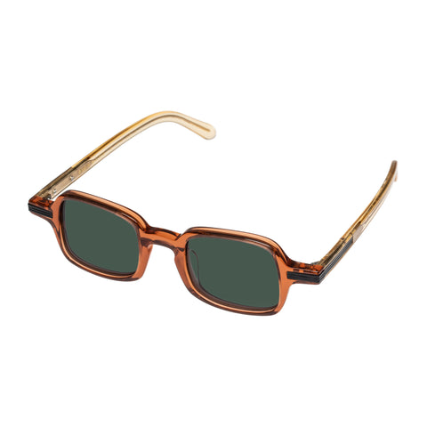 Monumental By Karen Walker Male Fry Tan Square Sunglasses