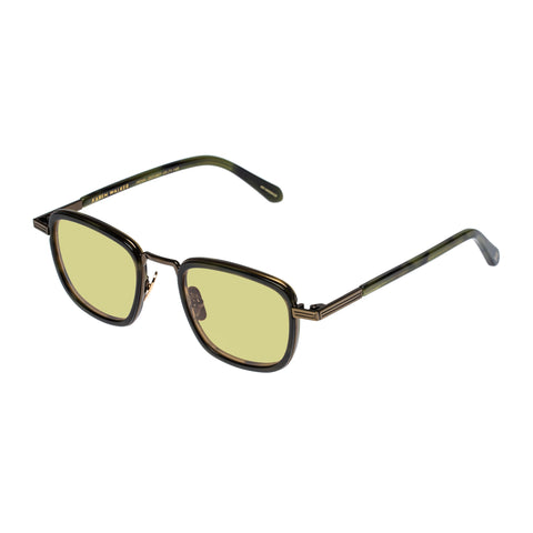 Monumental By Karen Walker Male Penn Gold Square Sunglasses