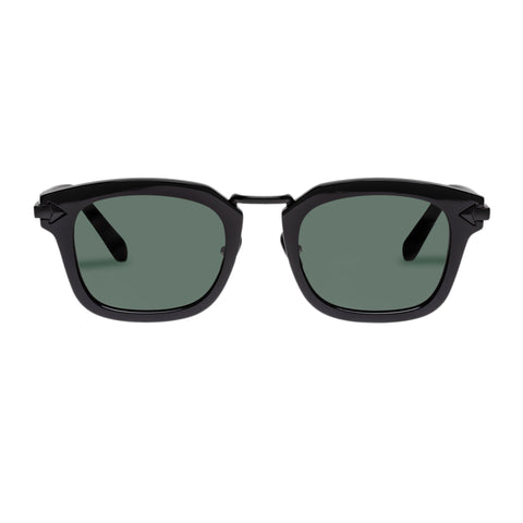 Monumental By Karen Walker Male Attenborough Black Modern Rectangle Sunglasses