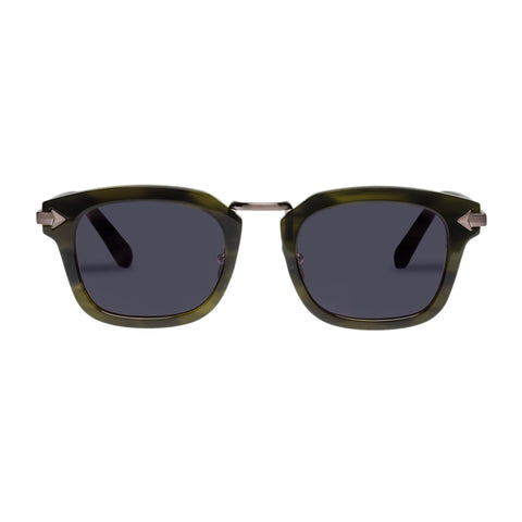 Monumental By Karen Walker Male Attenborough Horn Modern Rectangle Sunglasses