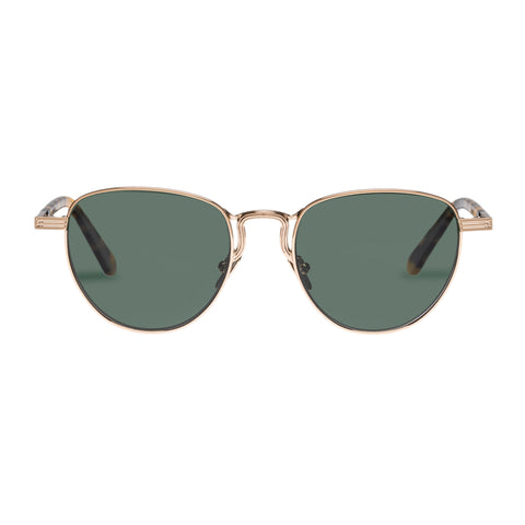 Monumental By Karen Walker Male Hersey Gold Round Sunglasses