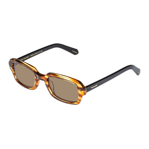 Monumental By Karen Walker Male Owens Brown Rectangle Sunglasses