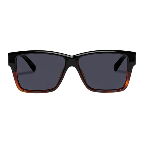 Le Specs Uni-sex Thor Alt Fit Black Modern Rectangle Sunglasses