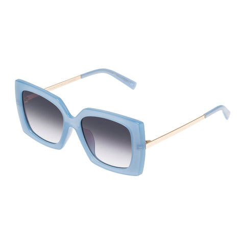 Le Specs Female Discomania Alt Fit Blue Square Sunglasses