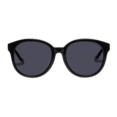 Le Specs Female Fantasy Alt Fit Black Round Sunglasses