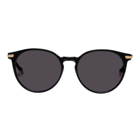 Le Specs Female Ufology Alt Fit Black Round Sunglasses