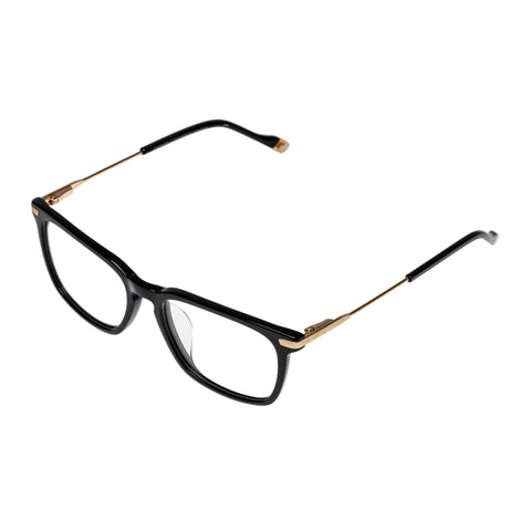 Le Specs Uni-sex Anecdote Alt Fit Black Rectangle Optical Frames