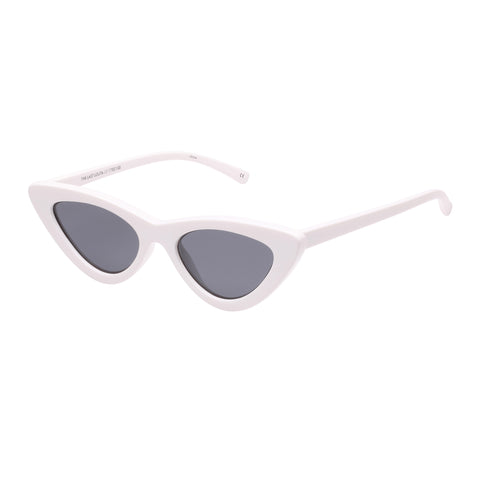 Le Specs Female The Last Lolita White Cat-eye Sunglasses