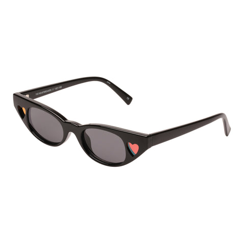 Le Specs Female The Heartbreaker Black Cat-eye Sunglasses