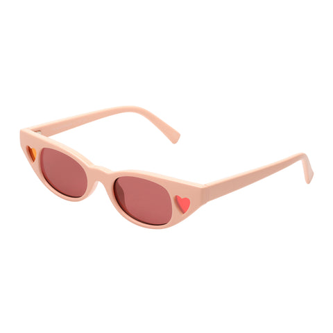 Le Specs Female The Heartbreaker Pink Cat-eye Sunglasses