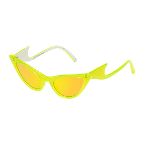 Le Specs Female The Prowler Yellow Cat-eye Sunglasses