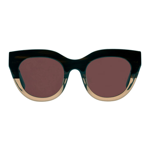 Le Specs Female Airy Canary Brown Cat-eye Sunglasses