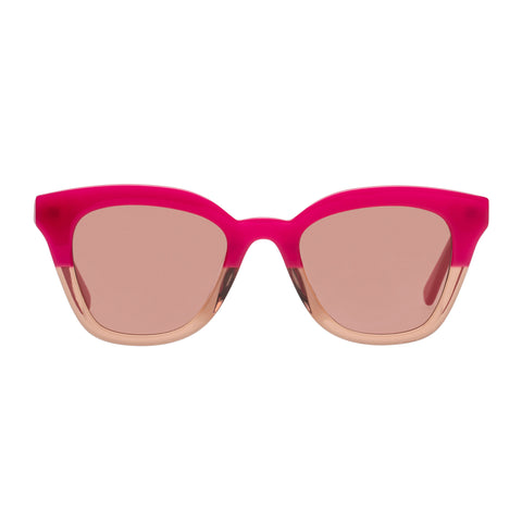 Le Specs Female High Jinks Pink Cat-eye Sunglasses