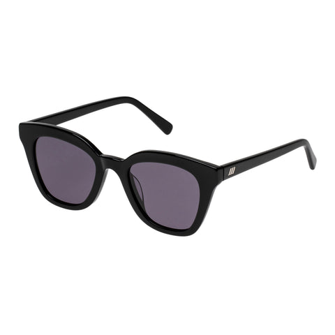 Le Specs Female High Jinks Black Cat-eye Sunglasses