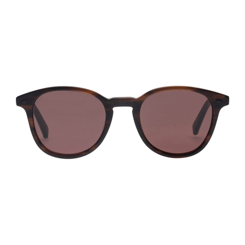 Le Specs Male Bandeau Brown Round Sunglasses