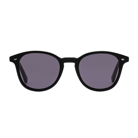 Le Specs Male Bandeau Black Round Sunglasses