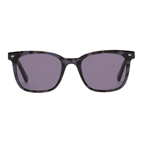 Le Specs Male Le Saloon Grey Modern Rectangle Sunglasses