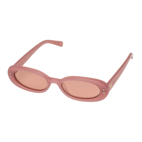 Le Specs Female The Outlaw Rose Oval Sunglasses