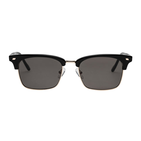 Le Specs Uni-sex Jiver Black Modern Rectangle Sunglasses