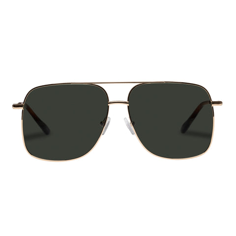 Le Specs Uni-sex Equilateral Gold Aviator Sunglasses