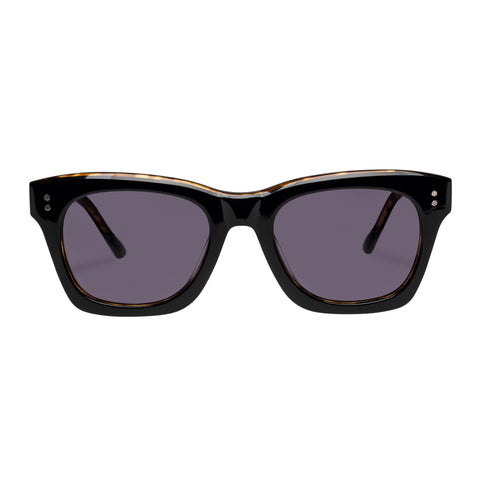 Le Specs Uni-sex Fortitude Black Modern Rectangle Sunglasses