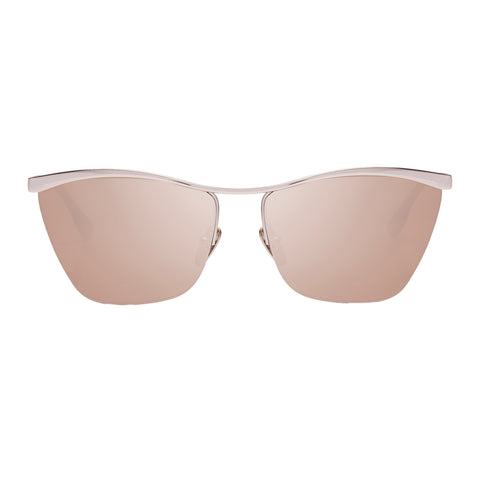 Le Specs Uni-sex Bitter-sweet Gold Wrap Fashion Sunglasses