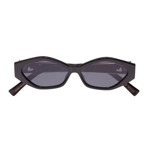 Le Specs Female Petit PanthÈre 1823828 Jordan Black Cat-eye Sunglasses
