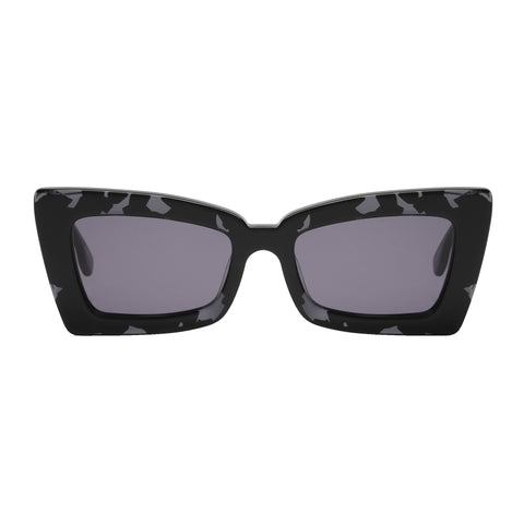 Le Specs Female Zaap! Grey Cat-eye Sunglasses