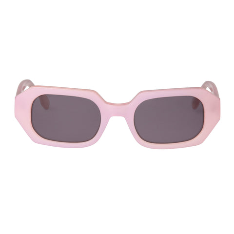 Le Specs Female Dolce Pink Octagon Sunglasses