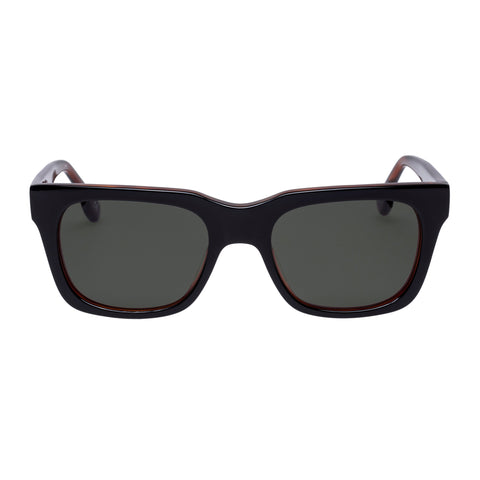 Le Specs Uni-sex Fellini Black Modern Rectangle Sunglasses
