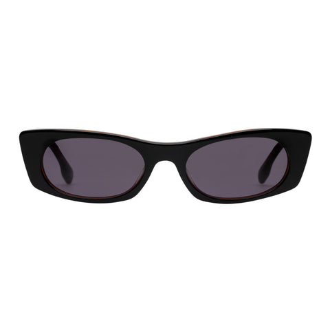 Le Specs Female Deep Shade Black Cat-eye Sunglasses
