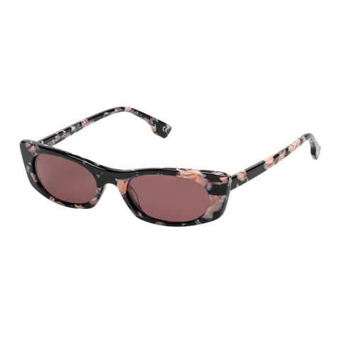 Le Specs Female Deep Shade Tort Cat-eye Sunglasses
