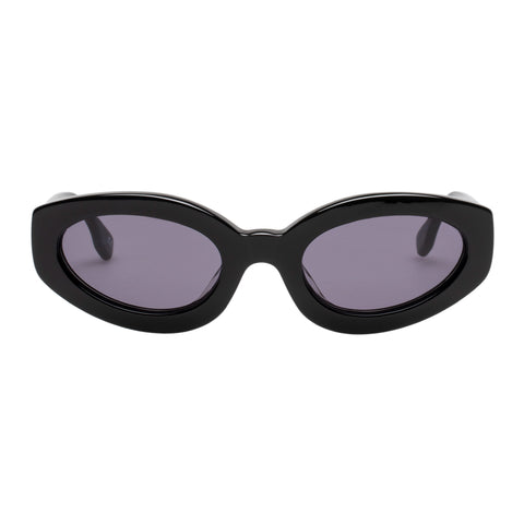Le Specs Female Meteor Amour Black Oval Sunglasses