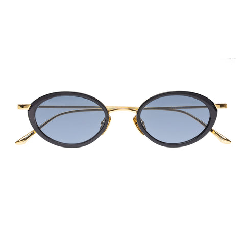 Le Specs Uni-sex Boom! Navy Oval Sunglasses