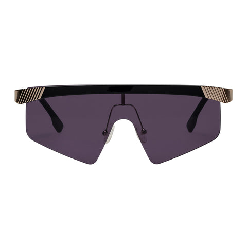 Le Specs Uni-sex Engineer Black Shield Sunglasses